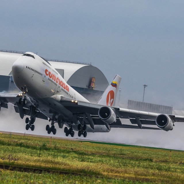 """Boeing B747 Conviasa EC-LNA"" stock image"