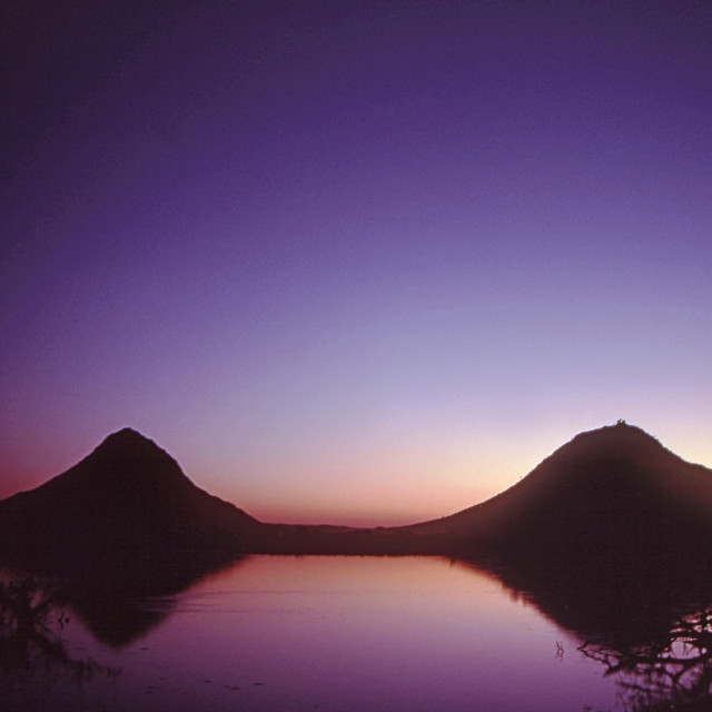 """Pushkar Lake sunset"" stock image"