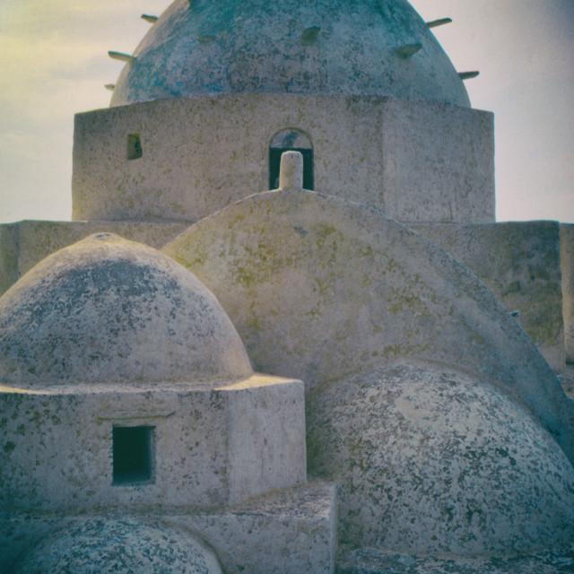 """Greek Island Church"" stock image"