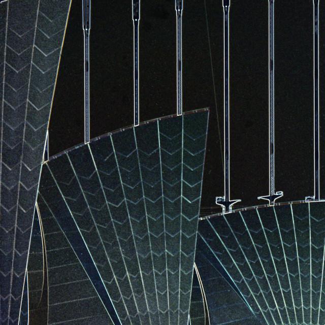 """Opera-Bridge glowing edges"" stock image"