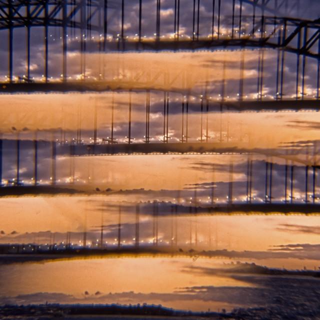 """Sydney Harbour Bridge Multiprism"" stock image"