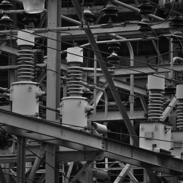 """""""Power Plant Detail"""" stock image"""