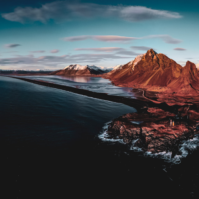 """""""East Iceland views"""" stock image"""