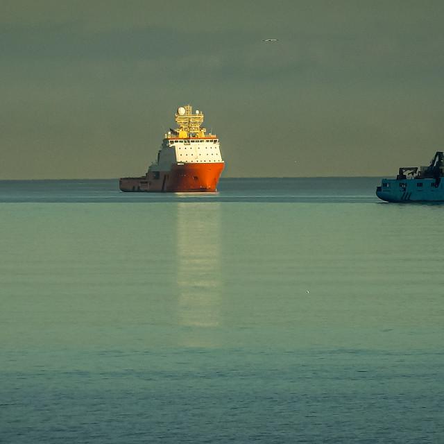 """Rig Supply Boats"" stock image"