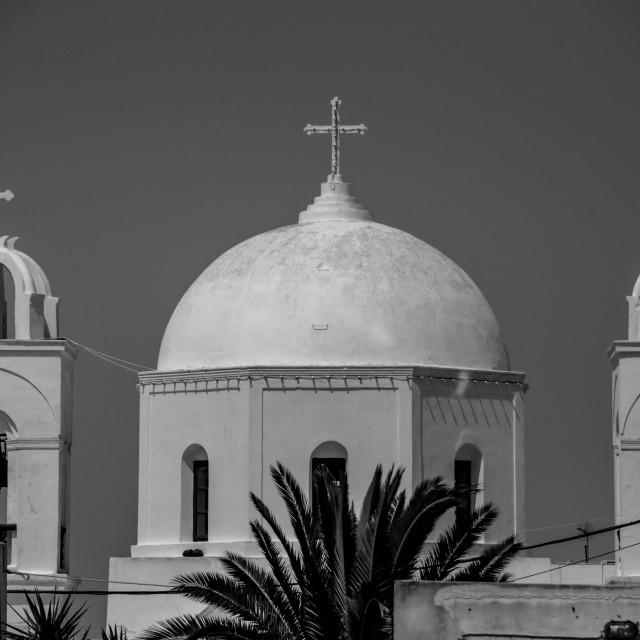 """Megalochori Church"" stock image"