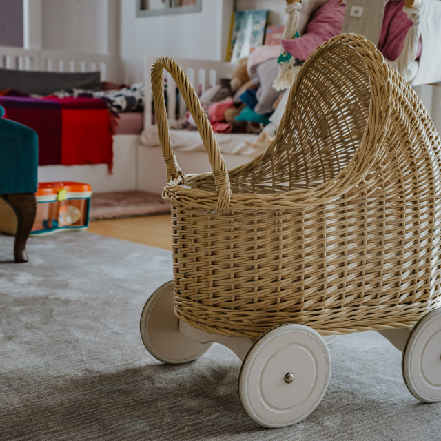 """""""toy pram in a child's room"""" stock image"""