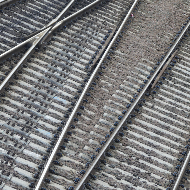 """Train Track (junction)"" stock image"