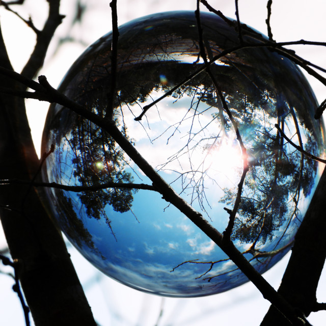 """""""Crystal Ball with a Touch of Blue"""" stock image"""