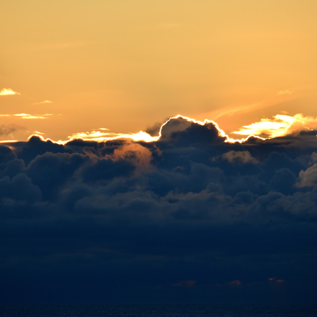 """""""Clouds with a silver lining."""" stock image"""