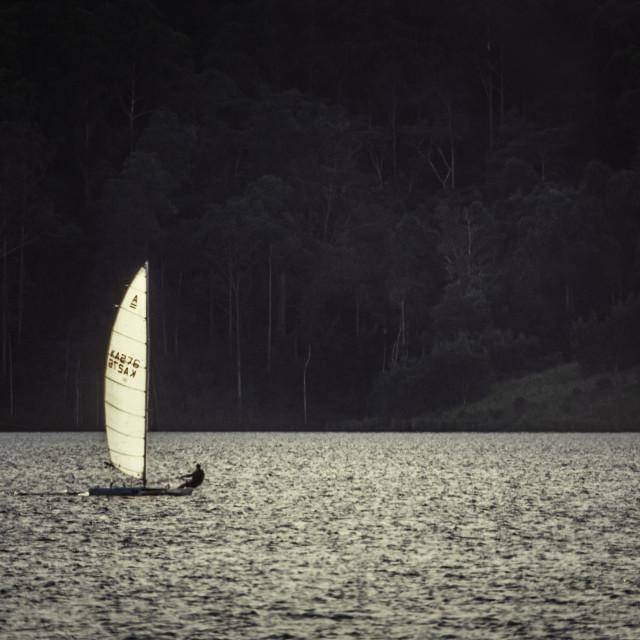 """Catamaran sailing"" stock image"