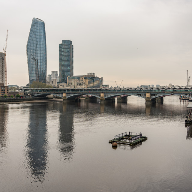 """Thames Lockdown 3"" stock image"