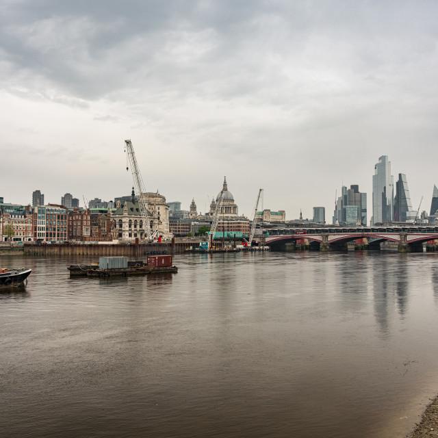 """Thames Lockdown 4"" stock image"
