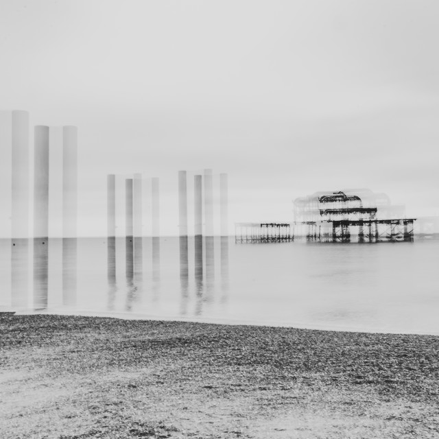 """""""Abstract West Pier"""" stock image"""