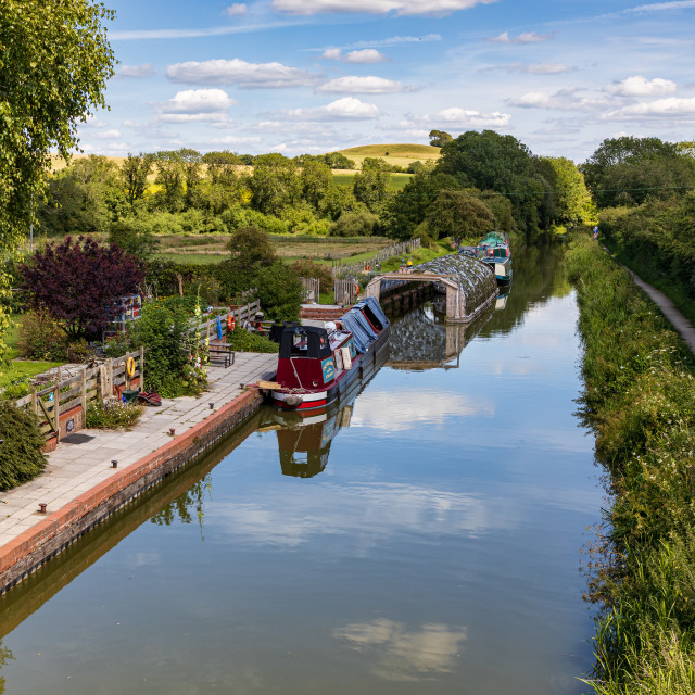 """""""Kennet and Avon Canal from Alton Barnes"""" stock image"""
