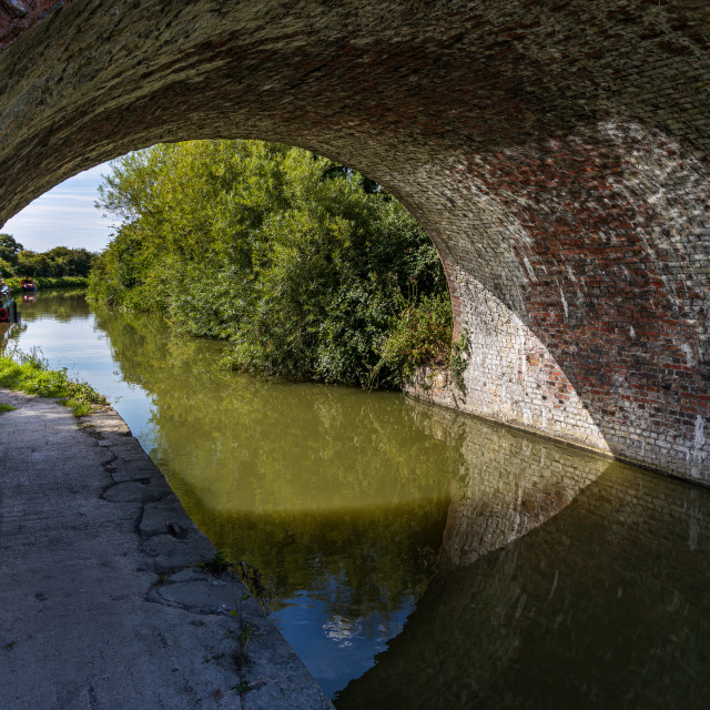 """""""Bridge over the Kennet andf Avon Canal"""" stock image"""
