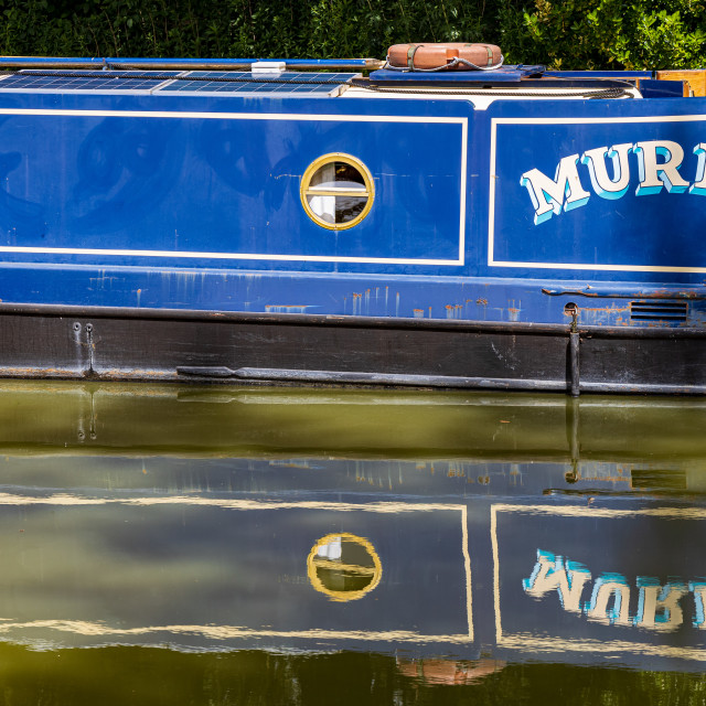 """""""Canal boat """"Muriel"""", Kennet and Avon Canal"""" stock image"""