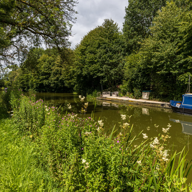 """""""Kennet and Avon Canal near Pewsey"""" stock image"""