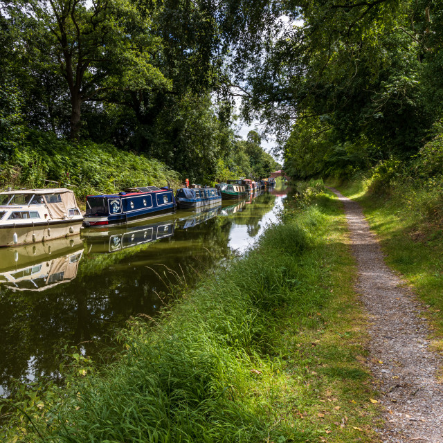 """""""Pewsey Wharf, Kennet and Avon Canal"""" stock image"""