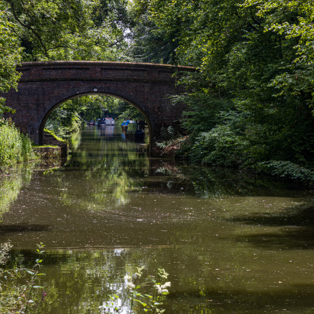 """""""Bristow Bridge over the Kennet and Avon Canal"""" stock image"""