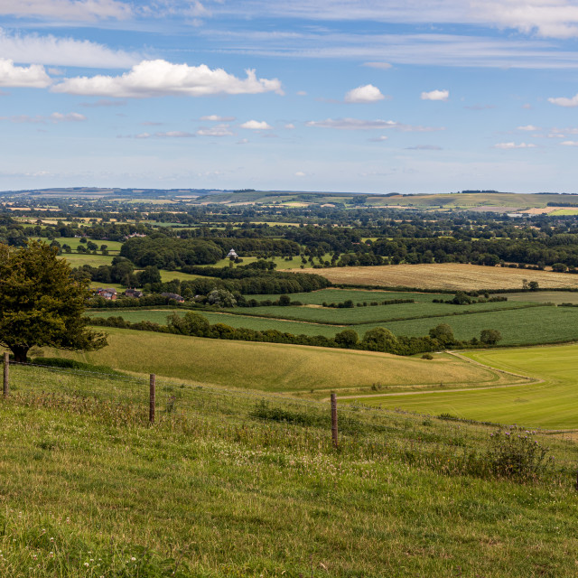 """""""Oare House and the Vale of Pewsey"""" stock image"""