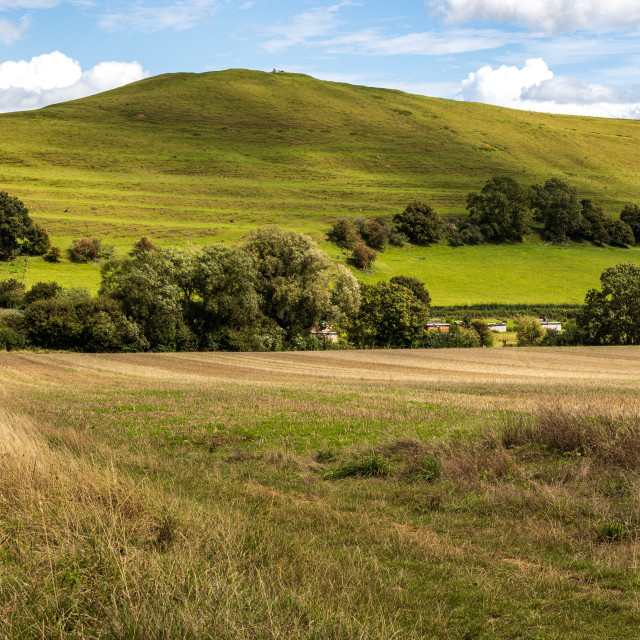 """""""Whitcombe and Parrock Hill"""" stock image"""