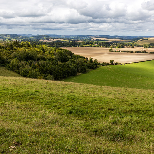 """""""View northwest from Win Green"""" stock image"""