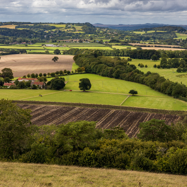 """""""View north from Win Green"""" stock image"""