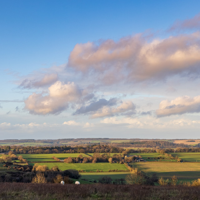 """""""A Wiltshire view"""" stock image"""