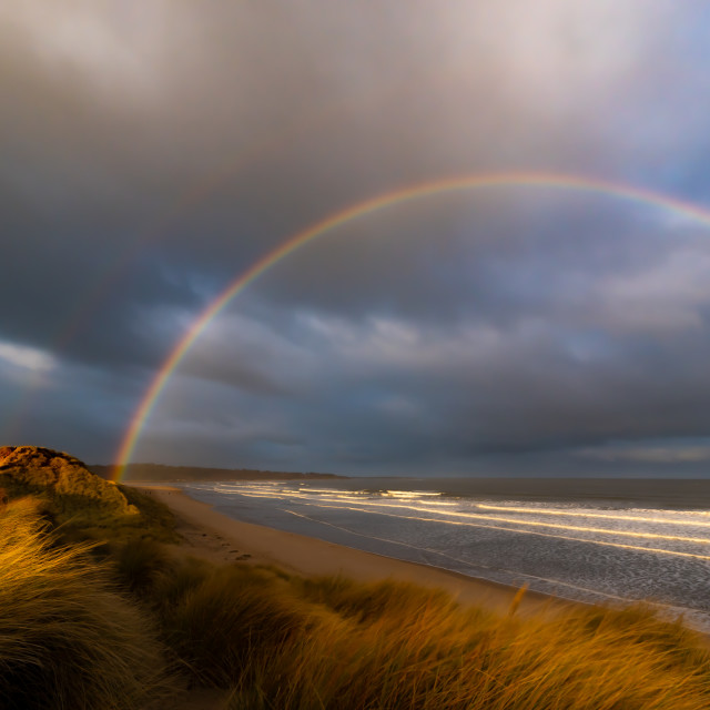 """""""Rainbow on New Years Day"""" stock image"""