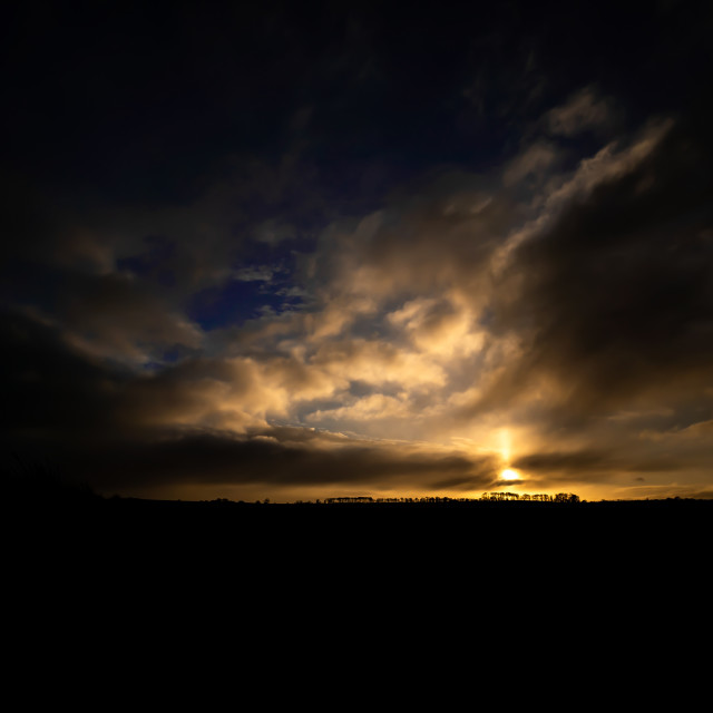 """""""Dramatic Sky Sunset in Colour"""" stock image"""