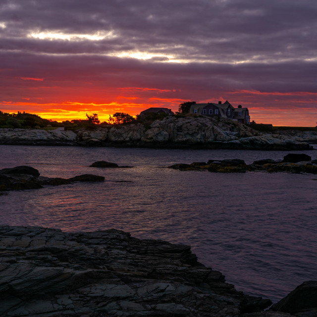 """A Newport Sunrise"" stock image"