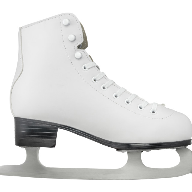 """Isolated Ice Skating Boot"" stock image"