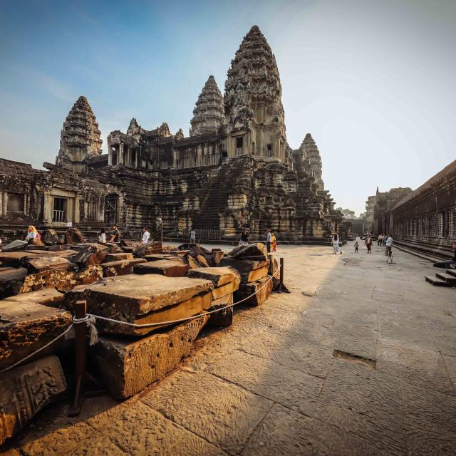 """""""Angkor Wat Tempelanlage"""" stock image"""