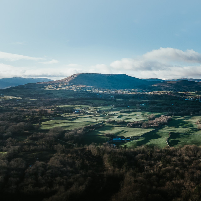 """""""Aerial view from Cong, Mayo"""" stock image"""