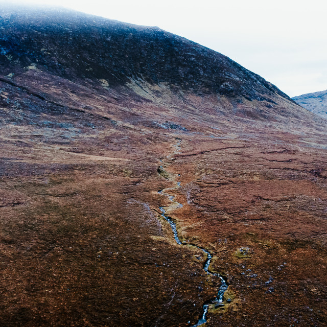 """""""Mountain textures in Maum, Galway"""" stock image"""