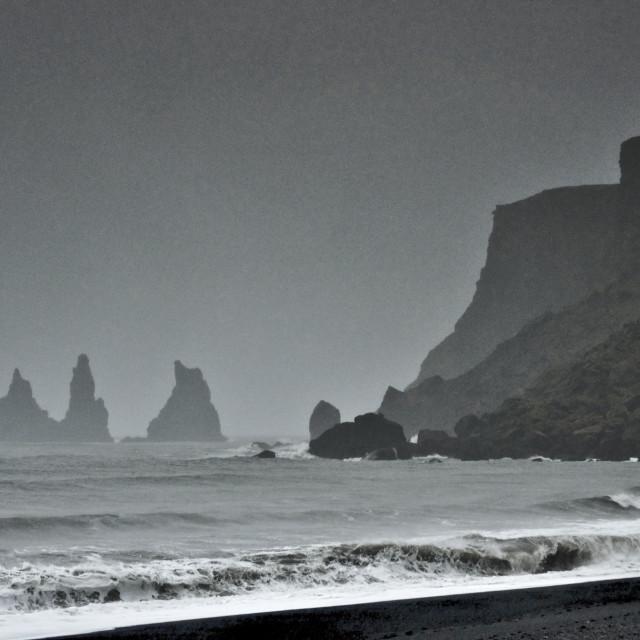 """Reynisdrangar rock pillars"" stock image"