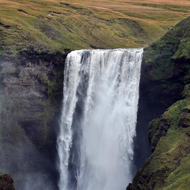"""Skogafoss waterfall"" stock image"