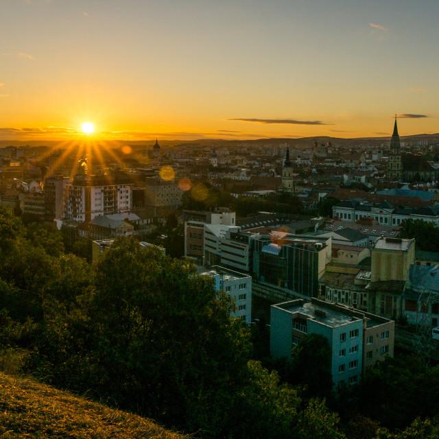 """Morning in Cluj"" stock image"