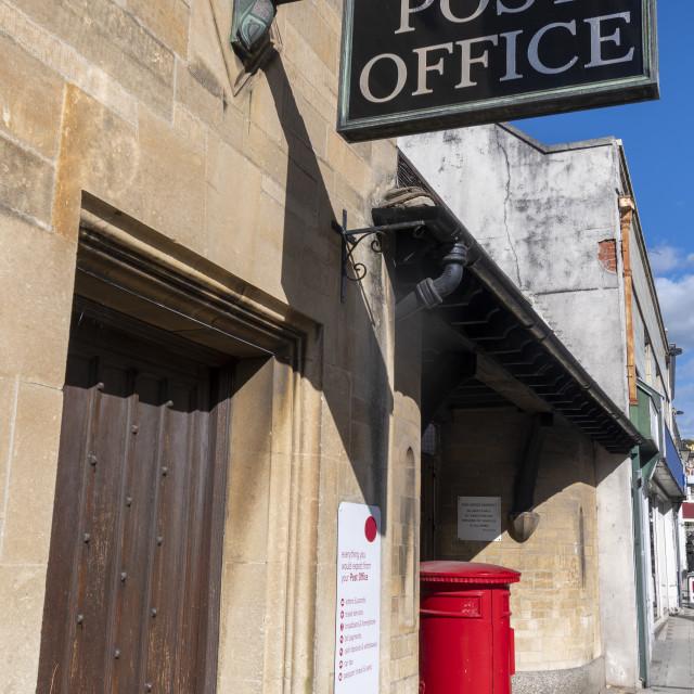 """Post office branch on British high street"" stock image"