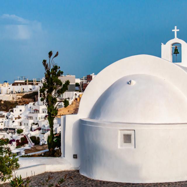 """Oia seen from Agios Georgos Church"" stock image"