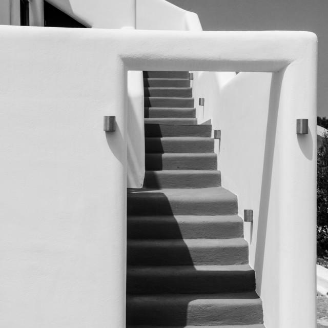 """Santorini Stairways"" stock image"