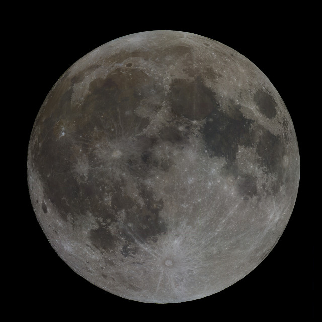 """""""Full moon in colour"""" stock image"""
