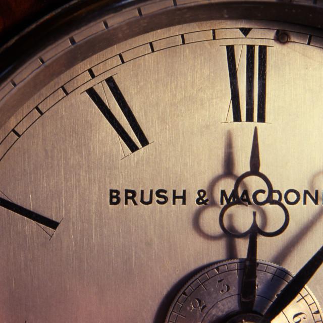 """Antique clock detail"" stock image"