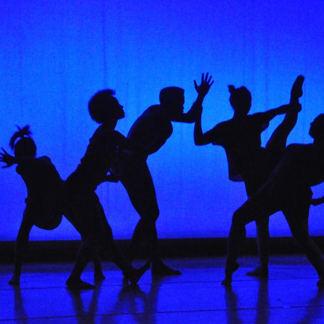 """Dance Silhouette"" stock image"