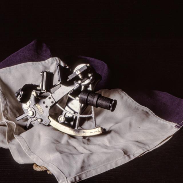 """Antique sextant"" stock image"