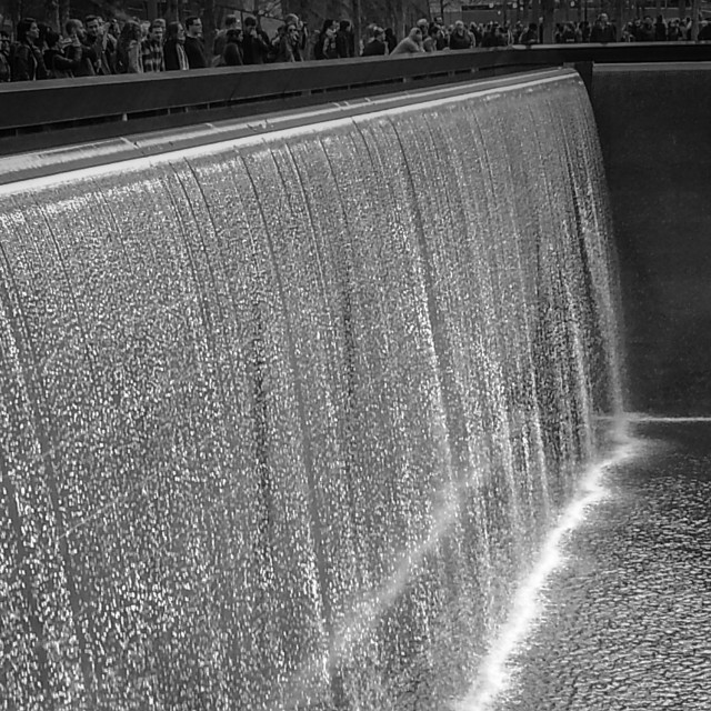 """""""9-11 Memorial waterfall"""" stock image"""