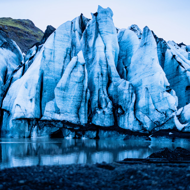 """""""At the end of a glacier"""" stock image"""