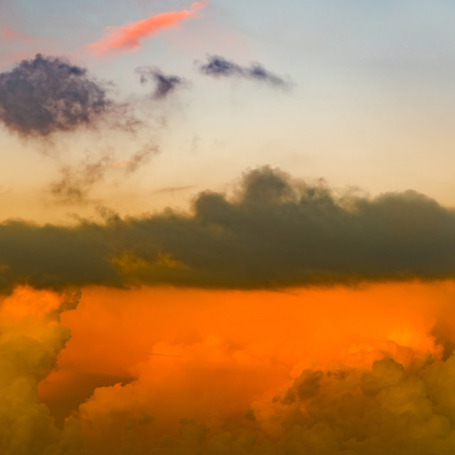 """""""""""Sky On Fire"""" - Cloudy sky at sunset"""" stock image"""