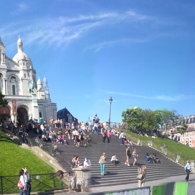"""""""Sacre Coeur & Paris skyline panorama"""" stock image"""