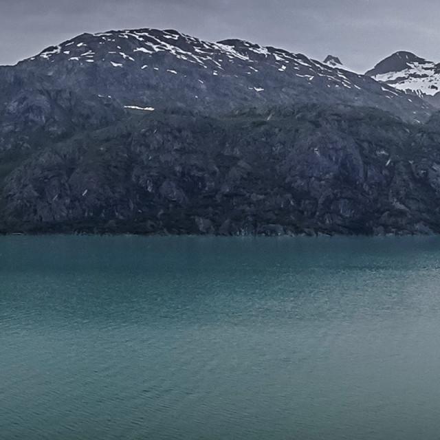 """Glacier Bay panorama"" stock image"